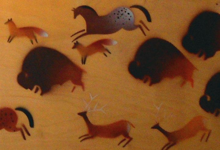 Animal stencils-detail