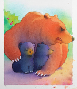 Mama Bear-watercolor