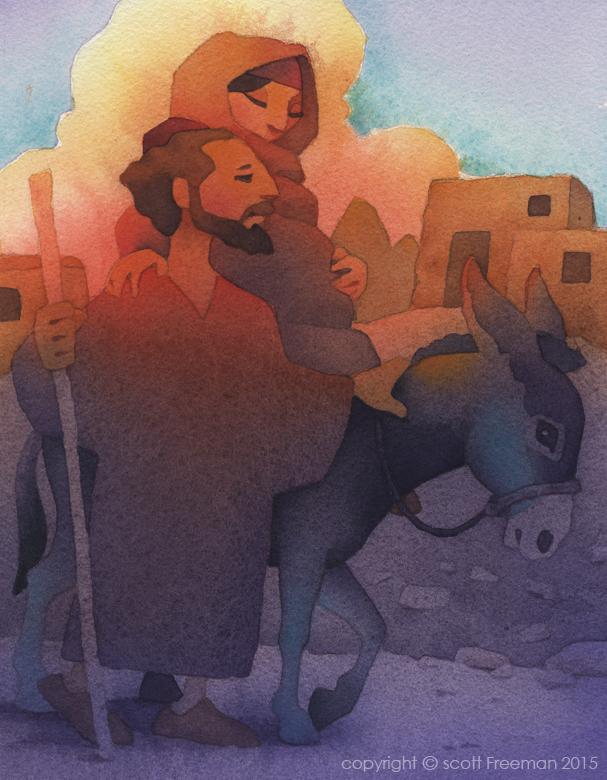 Joseph Mary Donkey Bethlehem