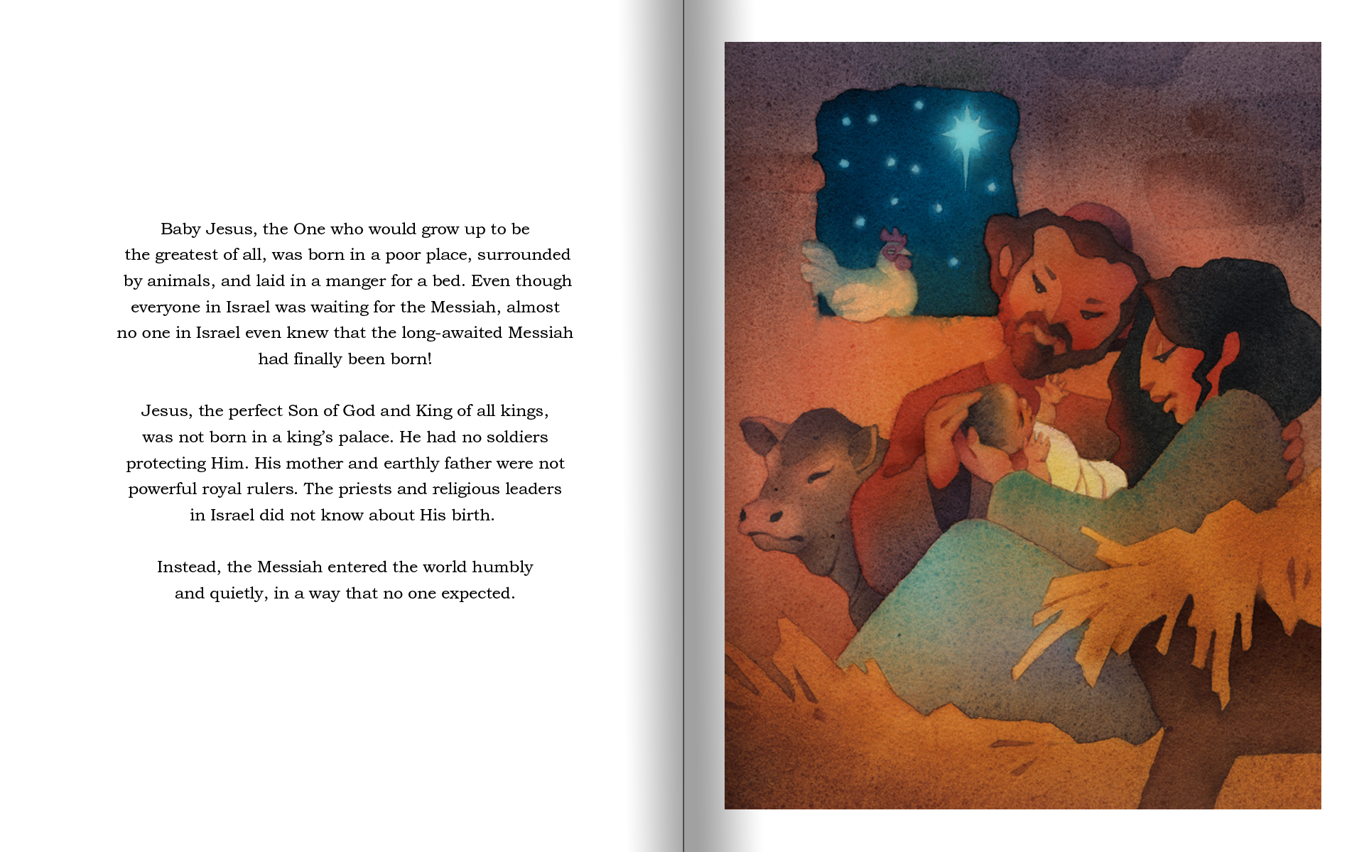 Birth of Jesus storybook-nativity scene