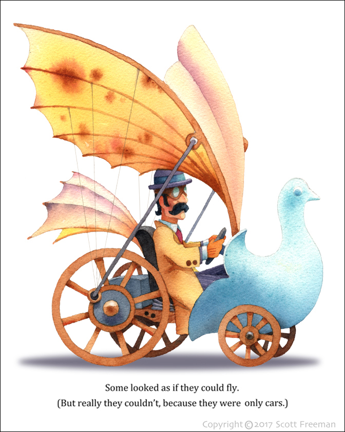 storybook illustration-steam punk